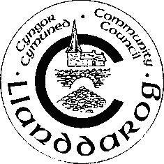 Cyngor Cymuned Llanddaro a gynlluniwyd gan Mrs Ann Rhys